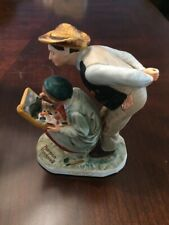 Dave Grossman Designs Norman Rockwell Country Critic Porcelain Figurine 1983