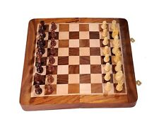 SG Wooden Chess Game Board Set with Magnetic Crafted Pieces