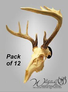 12 Pack Metal European Mount Deer Skull Hanger Bracket Hook