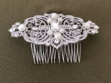 Elegant  Wedding Crystal Headpiece Rhinestone Hair Comb Bridal Hair Accessories