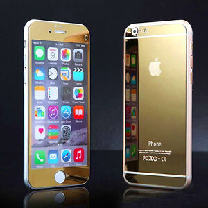 Front and Back Anti Scratch Tempered Glass Mirror Screen Protector For iPhone