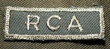 """CANADIAN ARMY COMBAT TAB UNIT BADGE  INSIGNIA  """"RCA""""  4 FOR $1 MIX & MATCH"""