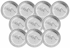Lot of 10 - 2017 1oz Silver Kangaroo .9999 Fine BU