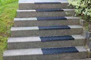 Gummi - Treppenstufen Trittschutz aussen Blockstufen Treppen Stein Granit