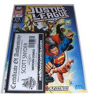 JUSTICE LEAGUE 1 Signed by Scott Synder COA DC Comics Superman Batman Flash
