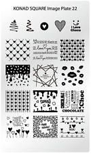 Konad Stamping Nail Art Square Image Plate 22