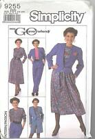 Simplicity 9255 M/MP Skirt, Pants, Shorts, Blouse and Unlined Jacket  14 to 20