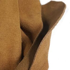 1.8-2.0mm Suede Leather Pieces Cow Hide Medium Brown Premium Split DIY Leather
