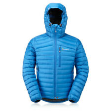 Montane Mens Featherlite Down Outdoor Jacket Top - Blue Sports Outdoors Full Zip
