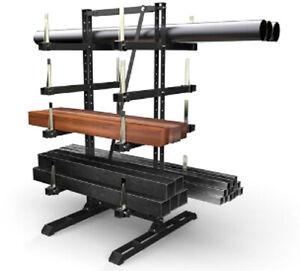 Kragarmregal doppelseitig höhen und Breitenverstellbar mit Teile Spannbacken