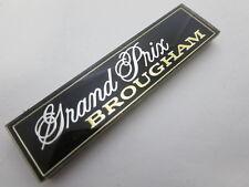 NOS 1979 - 1987 Pontiac Grand Prix Brougham dash emblem nameplate badge OEM GM