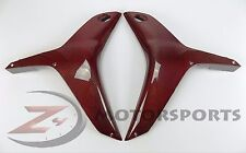 2007 2008 Honda CBR600rr Upper Side Mid Radiator Cowl Fairing Carbon Fiber Red