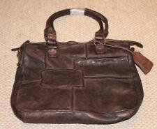BEAR DESIGN Leder Damen Schultertasche 25x31x8 cm dunkelbraun brown GR 6095 NEU