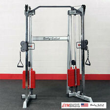 NEW Body-Solid GDCC210 Compact Functional Trainer Crossover - 160lb RED Stacks