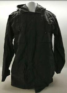 Ex Prison Service Black Waterproof Jacket Anorak Security Uniform Patrol Duty