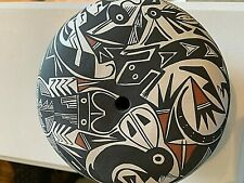 """Acoma Seed Pot Intricate Mimbres Figures. by P.Iule.  Appx 6.5x5"""""""