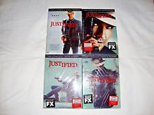 JUSTIFIED SEASONS 1-4, 1 2 3 4, DVD, FX, NEW & SEALED W/SLIPCOVERS!