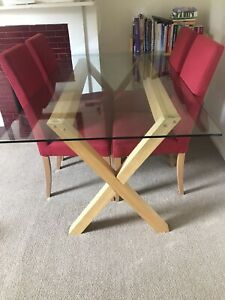 John Lewis & Partners Lydia 6 Seater Glass Top Dining Table