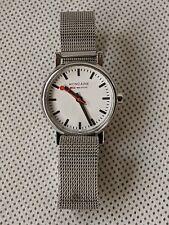 Mondaine Official Swiss Railways Watch on Stainless Steel Mesh Strap 30301