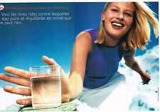 PUBLICITE ADVERTISING   1999   EVIAN  eau minérale (2 pages) pure & équilibre