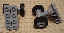LEGO LEGOS  -  Set of 2 NEW 2 X 4 Landing Gear with 2 Wheels  LIGHT BLUISH GRAY