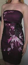 Purple and black bandeau dress UK size 6