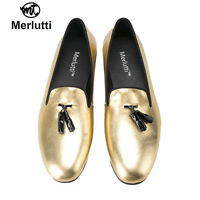 Merlutti Gold Patent Leather With Black Tassel