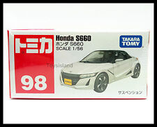 TOMICA #98 HONDA S660 1/56 TOMY DIECAST CAR 2016 JAN NEW MODEL WHITE