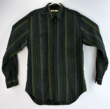 Tommy Bahama Mens Size Medium Soft Casual Shirt Long Sleeve Gray Striped Unique
