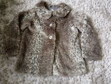 Next Girls Leopart Print Faux Fur Size 10 Years Height 140 Cm