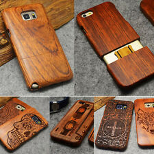 Natural Bambú Madera Wood Wooden Funda Carcasa para Samsung Galaxy Note4/5 S6 S7