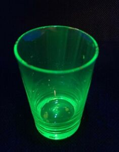 Antique Victorian Vaseline Uranium Art Glass Liquor Shot Cup Cordial Schnapps