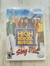 Disney High School Musical Sing It! Wii New Sealed