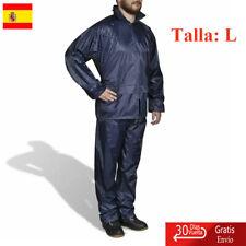 Chubasquero Impermeable Pantalón Y Sudadera Hombre Pesca, Azul Marino, Talla L