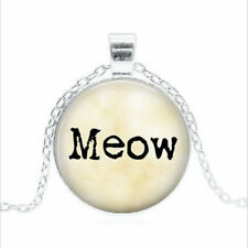 Meow Tibet silver Glass dome Necklace chain Pendant Wholesale