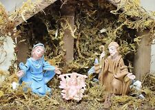 Vintage Italy Christmas Nativity Manger Scene