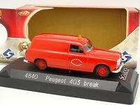 Solido 1/43 - Peugeot 403 Break Pompiers Rouen