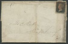 Gb #1 On Folded Letter With Red Cancel Bs2639