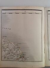 Scotland 1794 Cary's Antique Map Berwick Eyemouth Dunbar Duns Greenlaw