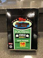 1992 Topps Stadium Club Football Series 1 Box (36 Packs)