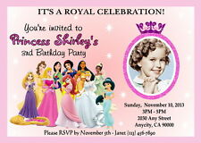 DISNEY PRINCESS CUSTOM PRINTABLE BIRTHDAY PARTY INVITATION & FREE THANK U CARD