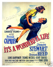IT'S A WONDERFUL LIFE LOBBY CARD POSTER OS 1946 JAMES STEWART DONNA REED