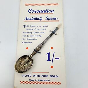 Original Replica Coronation Souvenir Annointing Spoon On Original Card