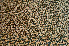 10 Yards Gold Vines on Marble Hunter Green Background