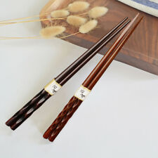 2 Pairs Japanese Chopsticks Wood Non-Slip Sushi Chop-Sticks Set Chinese Gift
