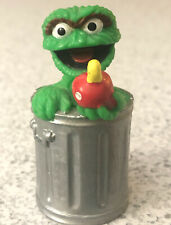 "Vintage Sesame Street OSCAR THE GROUCH & SLIMEY WORM Figure APPLAUSE 2.5"" PVC"