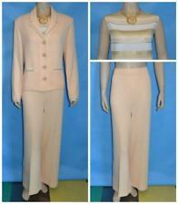 St John Knit Evening Peach Jacket Skirt Top L 10 12 3pc Suit Rhinestones Sequins