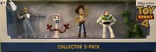 New Disney Pixar TOY STORY 4 - COLLECTOR 5 PACK WOODY BUZZ FORKY BO PEEP REX