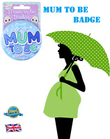 BLUE Colour MUM TO BE BADGE Baby On Board Public Transport Pregnant Badge 75mm