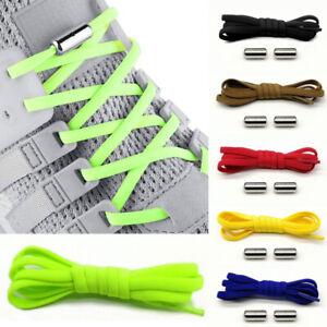 1Pair Lazy No Tie Shoe Laces Metal Capsule Button Elastic Shoestrings Shoelaces